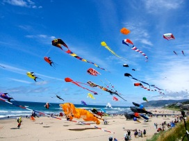 Kites-flying-beach-north-cyprus